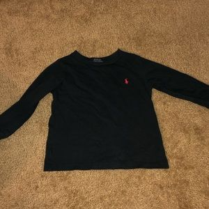 Toddler boys solid black L/S tee